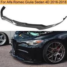 Fit F/ür Alfa Romeo Giulia Sport 2016 2017 2018,Carbon Fiber YNWW Auto Frontsto/ßstange Lip Spoiler Splitter Body Kit Spoiler Wing Body Protector Front Lower Spoiler Air Dam