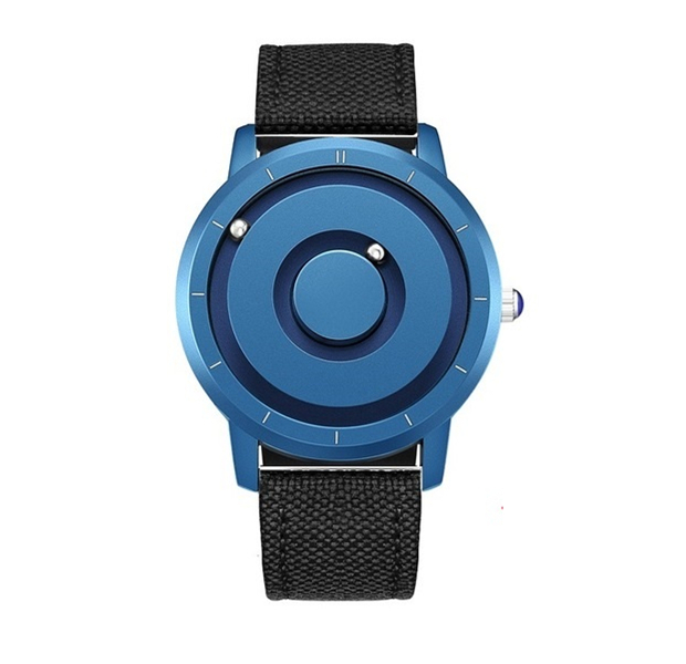 EUTOUR New Innovative Blue Gold Magnetic Metal Multifunctional Watch Men's Fashion Sports Quartz Watch Simple Men's Watch 11