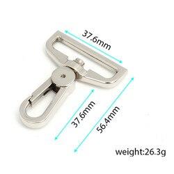 50 шт. поворотные крючки для рюкзака, никелированные застежки для омаров
