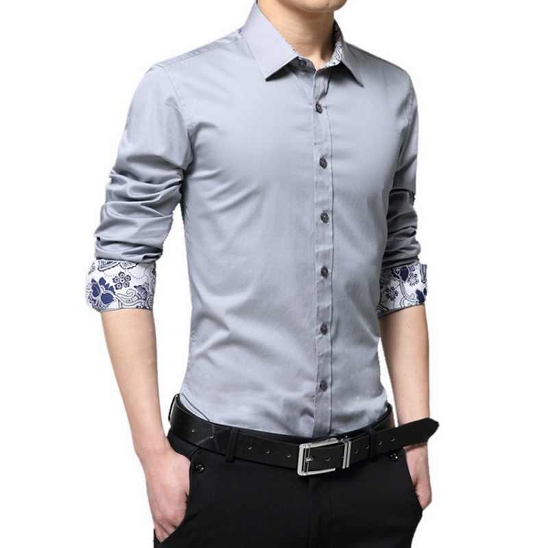 LASPERAL повседневная мужская рубашка с длинными рукавами большого размера, тонкая модная дизайнерская одежда 2019, новая осенняя мужская брендовая рубашка, деловая одежда