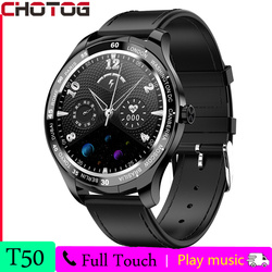 2021 CHOTOG Smart Watch Men Full Touch HD Round Screen Heart Rate Health Tracker Smartwatch Women Music Control For Android IOS