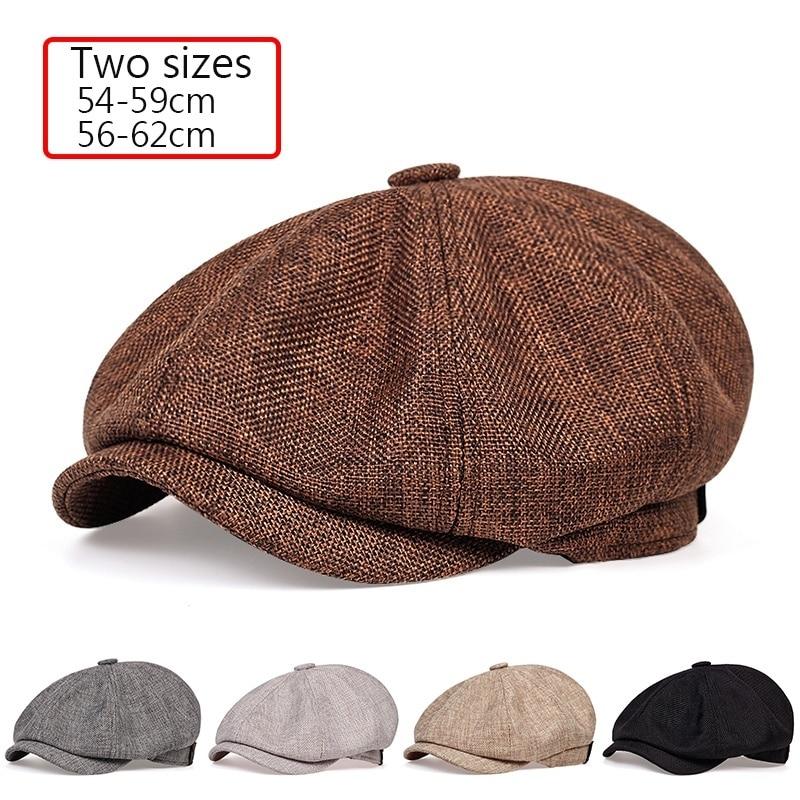 2020 novo masculino casual newsboy chapéu primavera e outono retro boina chapéu selvagem casual chapéus unissex selvagem octogonal boné