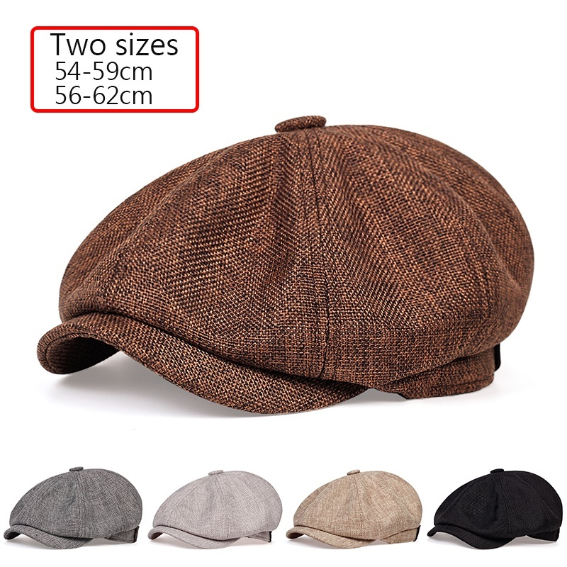 2020 New Men's Casual Newsboy Hat Spring And Autumn Retro Beret Hat Wild Casual Hats Unisex Wild Octagonal Cap