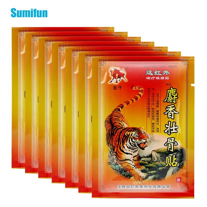 80 pçs bálsamo de tigre quente alívio da dor remendo alívio rápido dores e inflamações cuidados de saúde lombar coluna médica gesso