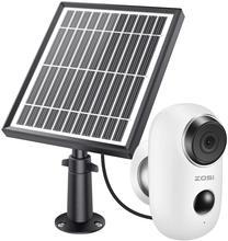 ZOSI – caméra de Surveillance IP Wifi 1080P, dispositif de sécurité sans fil, avec batterie solaire, Audio, étanche, pour l'extérieur et la maison