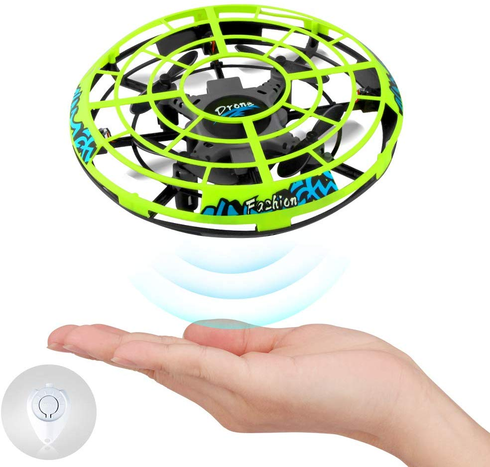 Mini Drones for Kids Hand Controlled, UFO Fly Ball with Led Light, Hands Free Hover Quad Drone Auto Sensing Obstacle Drone toy