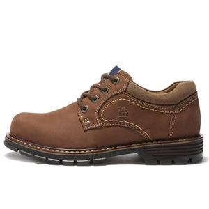 Image 5 - CAMEL buty męskie skóra bydlęca dorywczo peeling Retro matowy prawdziwej skóry zestaw stóp żeglarstwo buty mężczyźni wygodne dno męskie obuwie