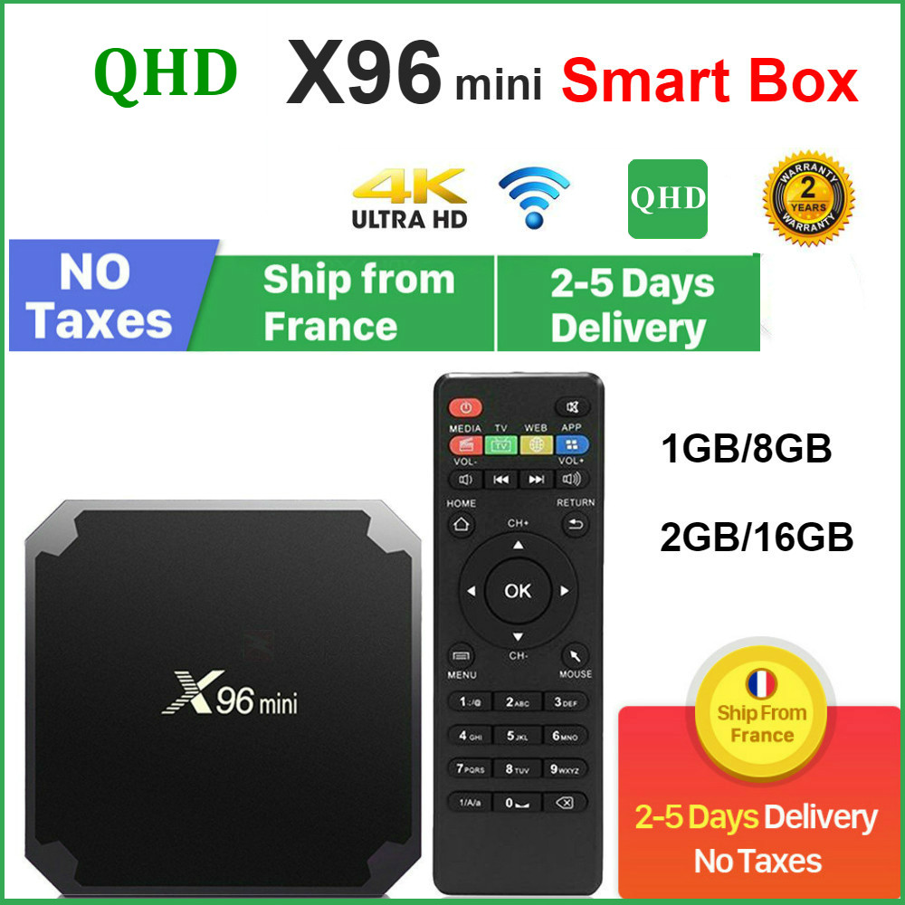 Оригинальный QHDTV X96 Мини ТВ-приставка Android 9,0 8 Гб 16 Гб AMLOGIC S905W четырехъядерный X96Mini leadcool Android Lxtream Смарт ТВ-приставка