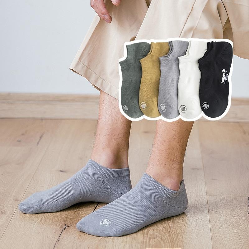 Man Socks 2019 New Spring Socks Men Cotton Letter Short Invisible Letter Casual Socks Breathble Men Ankle Socks