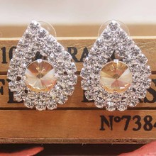 wedding delicate style colorful shape rhinestone stud Earrings Earrings Women Excellent masquarde /delicate  jewelry earrings все цены
