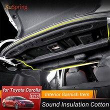 Tronco do carro isolamento de algodão à prova de som tapete almofada pegajosa carro-estilo para toyota corolla 2019 2020 2021 e210 12th