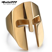 oulai777 punk big fashion mens ring wholesale stainless steel mask black rings rock gifts for men accesories male man