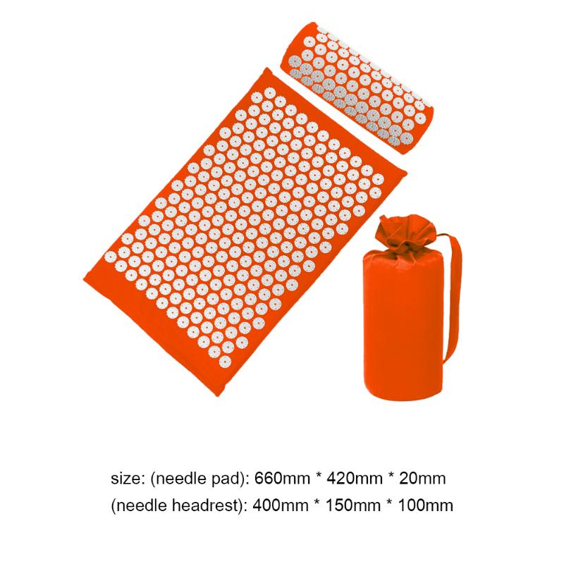 Acupressure Massage Mat with Pillow set to body Relaxation to Release Stress and Tension 37