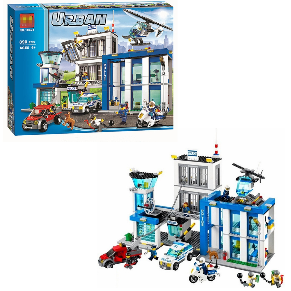 951pcs Compatible City Police 60141 Mobile Police Station