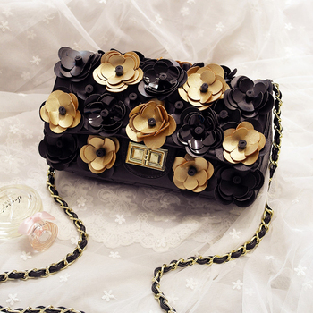 2020 New Summer Female Small Fragrance Rhombic Camellia Flower Chain Shoulder Messenger Bags Women Purse and Handbags
