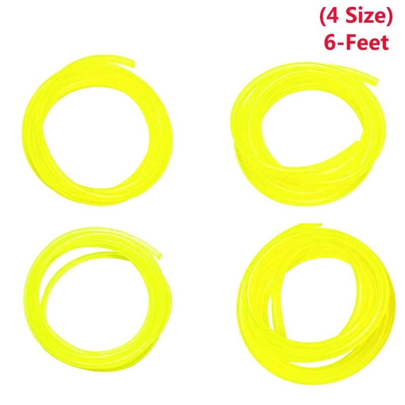 4 Size Petrol Fuel Line Hose Tube For Common 2 Cycle Small Engine & Chainsaw New