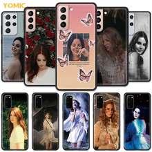Lana Del Rey-funda de teléfono para Samsung Galaxy S20 FE S21 S10 Note 20 Ultra S9 Plus S8 10 Lite S10e 9, color negro