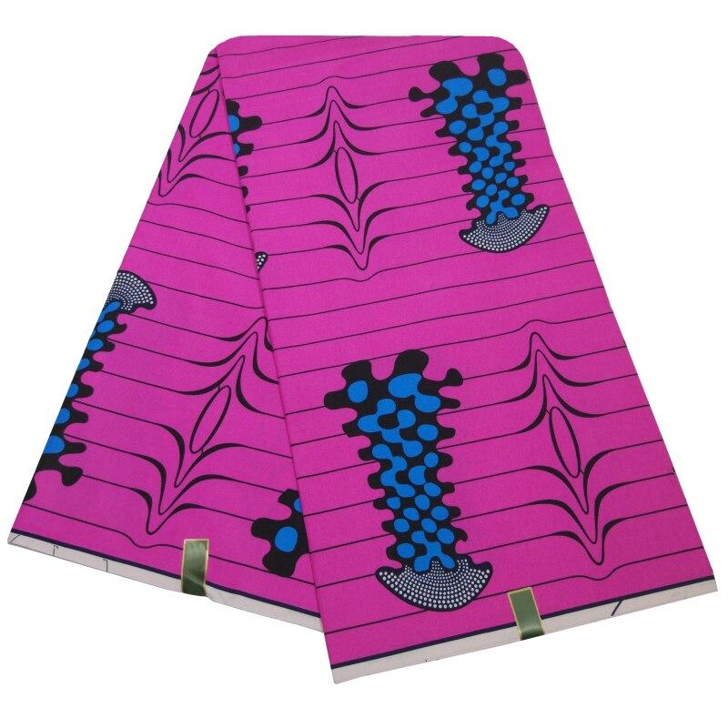 Ankara Sweet Printed Rose Red Wax Fabrics DIY Sewing Textiles For Lady 6 Yards/Piece