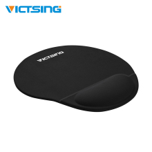VicTsing Mouse Pad Black Mousepad With Silicone Wrist Support Ergonomic Design Wrist Rest Pad For Gamer Gaming Mouse For Mi Pad premium new office lycra cloth mousepad with gel wrist support ergonomic gaming desktop mouse pad wrist rest