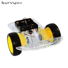 Умный робот автомобильный комплект шасси датчик скорости батарейный