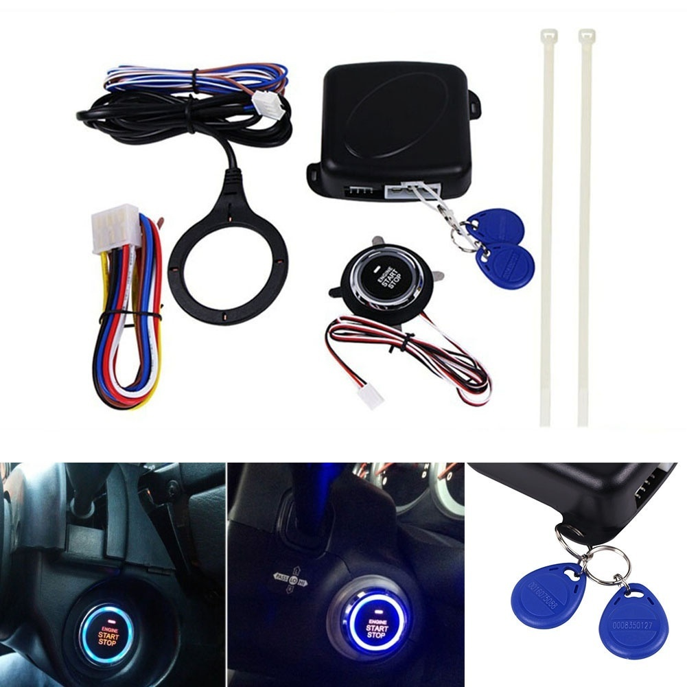 Car Engine Push Start Button RFID Engine Lock Ignition Keyless Entry System Go Push Button Engine Start Stop Immobilizer 5