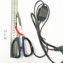 Электрические нагревательные ножницы, электрические нагретые ножницы с рабочим индикатором для резки ткани, тепловой резак