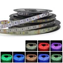 цена на SMD 5050 RGB Tape LED Strip Light 24V 5M Waterproof white led strip warm white neon lamp LED Light 60LED/M Flexible TV Backlight