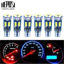 T5 luzes de led para interior do carro, w1.2w w3w, 6 peças, para painel lateral, lâmpada para instrumento e medida 4014 led super brilhante
