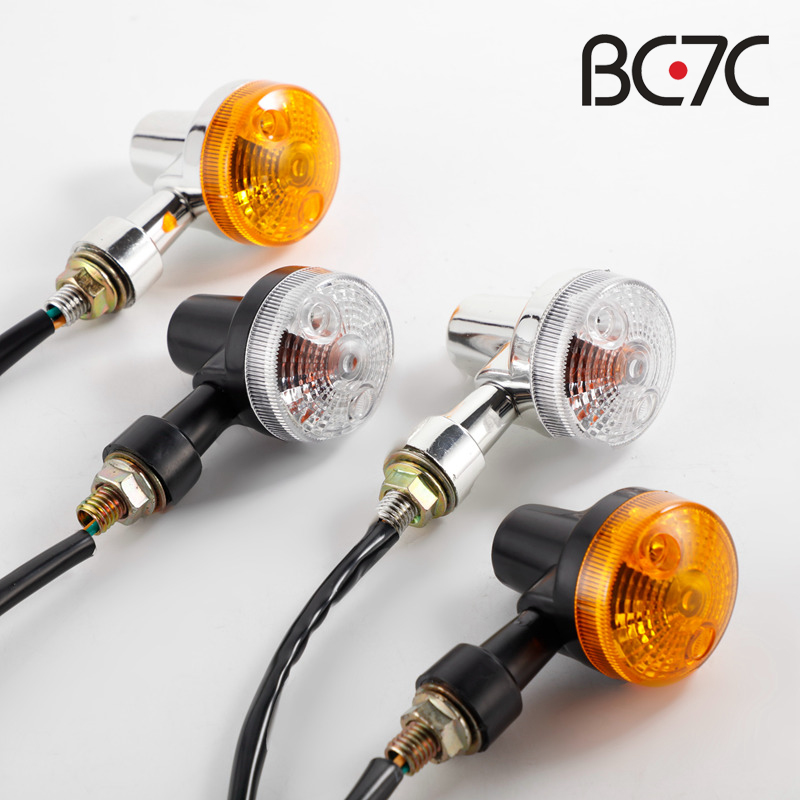 Universal Motorcycle Turn Signal Indicator Light Amber For GN125 Cafe Racer  Harley Suzuki