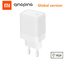 Xiaomi qingping bluetooth wifi gateway compatível com mijia app bluetooth sub-dispositivo de ligação inteligente dispositivo de casa plugue da ue