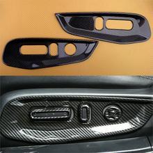 2Pcs ABS 탄소 섬유 스타일 자동차 인테리어 좌석 핸들 패널 커버 트림 맞는 혼다 어코드 2018 2019 2020 왼쪽 손 드라이브 전용