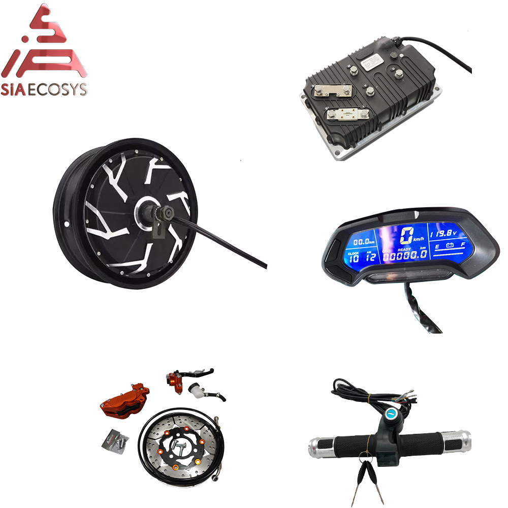 QS 12inch 12000W 260 70H V4 96V120KPH Conversion Kits With Kelly Sine Wave Controller