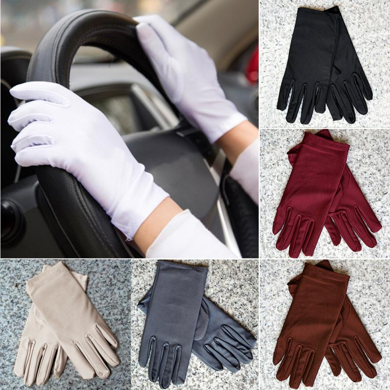 1Pair Summer Super-elastic Short Gloves Design Sun-shading Sunscreen Oversleeps Slip-resistant Gloves Female