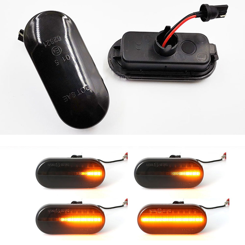 2pcs Dynamic <font><b>Led</b></font> Turn Signal Side Marker <font><b>Light</b></font> Lamp for <font><b>VW</b></font> Jetta MK4 Golf MK4 GTI MK4 <font><b>Passat</b></font> <font><b>B5</b></font> Caddy Transporter 1J0 949 117 image