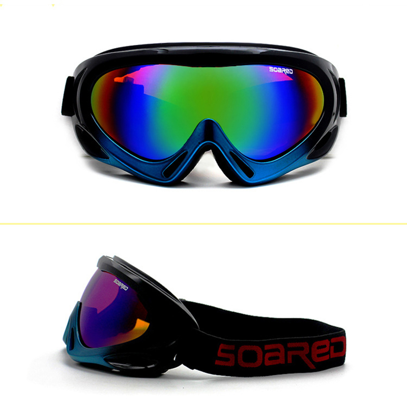 Skiing Goggles Adult Children PC Lens Breathable Sponge Outdoor Sports Glasses Eyewear