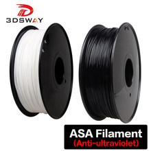 Impresora 3D 3DSWAY ASA, filamento de 1,75mm, 1kg, antiultravioleta, filamento de impresión 3D, resistente a altas temperaturas, 105 ℃, negro y blanco