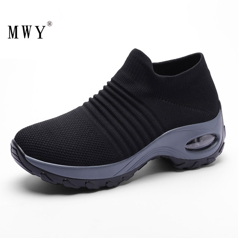 MWY Women's Vulcanize Shoes Incresed Sneakers Chaussures Femme Slip On Shoes For Women Breathable Outdoor Casual Walking Shoes