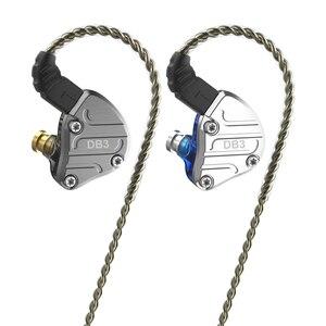 Image 5 - NICEHCK DB3 1BA + 2DD hybride 3 unités de pilote dans loreille écouteur moniteur en cours dexécution Sport écouteur HIFI casque métal DJ Earbud IEM MK3
