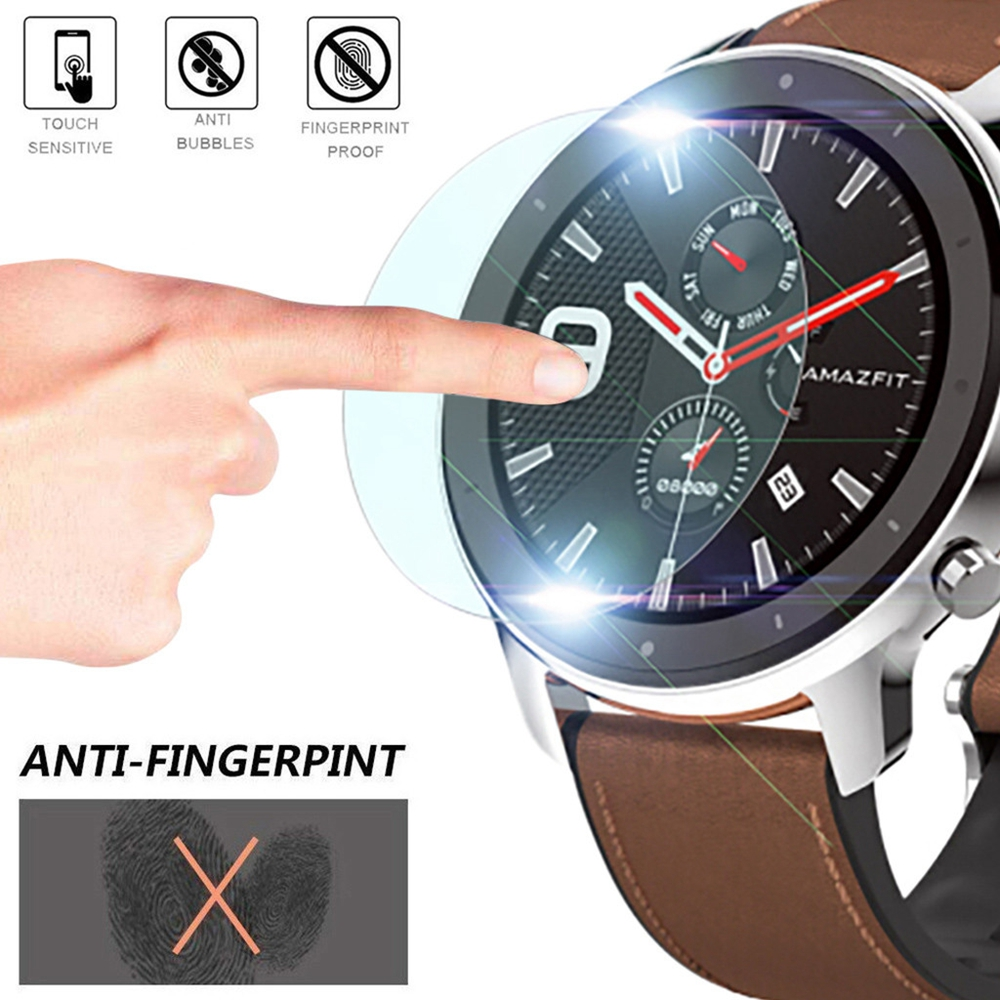 HANGRUI 10pcs Huami Amazfit GTR 42mm 47mm Screen Protector Film For Xiaomi Huami Amazfit GTR 47mm Smart Watch Accessories Film