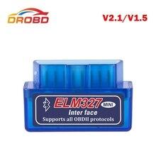 Mini ELM327 herramienta de diagnóstico OBD2 con Bluetooth, V2.1 lector de códigos de coche, escáner obd 2, ELM 2019 para Android, 327