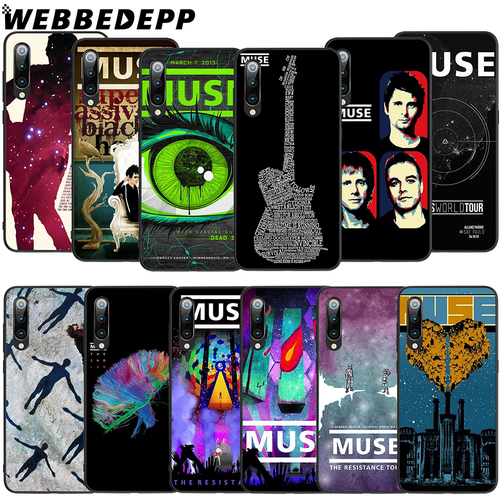 WEBBEDEPP Muse Band Lyrics Soft TPU Case for Xiaomi Mi 6 8 A2 Lite 6 9 A1 Mix 2s Max 3 F1 9T A3 Pro CC9E Cover in Fitted Cases from Cellphones Telecommunications