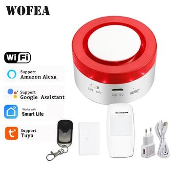Tuya Smart WiFi Home Security Alarm System 433MHz Wireless Strobe Siren Compatible W Alexa Google smartlife APP - discount item  33% OFF Security Alarm