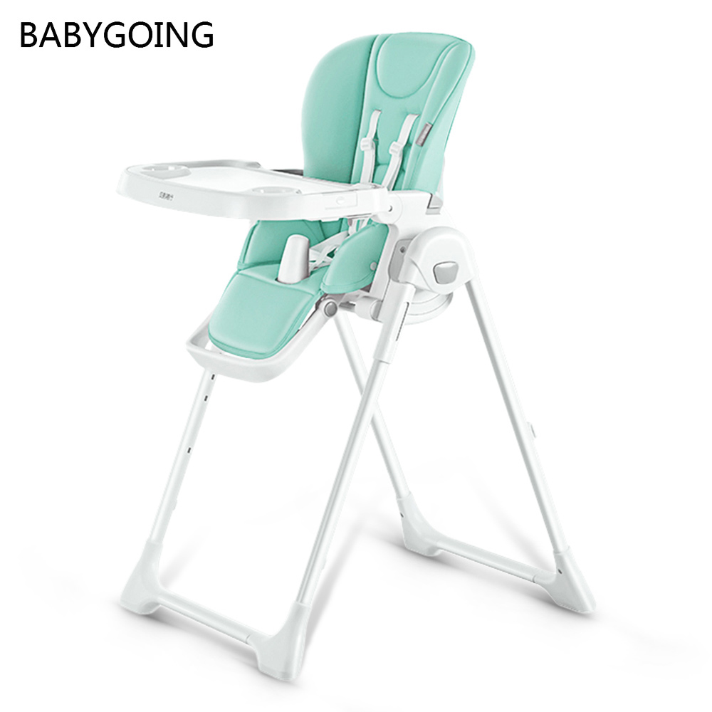 BABYGOING HQ01MMB Multifunctional Children'S Dining Table Chair Adjustable Foldable Safety Car Seat For 6 - 36 Month Old Baby
