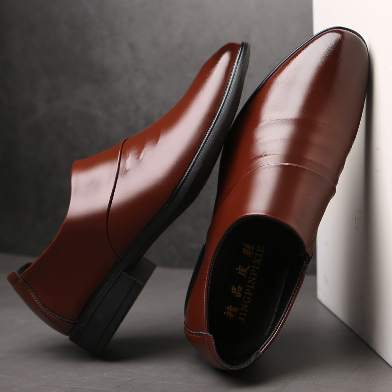 New Business Men Oxfords Shoes Set Of Feet Black Brown Male Office Wedding Pointed Men's Leather Shoes 2020 Yuj8