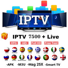 Monde IPTV Europe 7500 canal M3u abonnement Iptv royaume-uni italie espagne france allemagne Portugal Voor Android Box Enigma2 m3u Smart T(China)