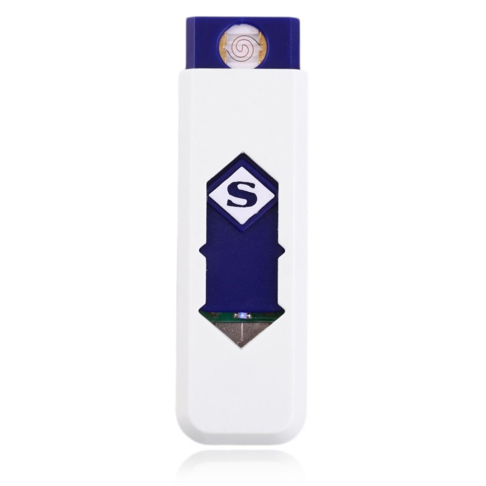 8 Colors Portable Electronic No Gas USB Rechargeable Lighter Flameless Superman Cigarette Lighter Silent Windproof Gadget Case