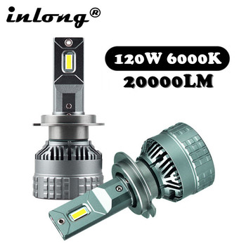 цена на With Original ZES Chip H7 Led Bulb H4 LED Headlamp 20000LM No Error Canbus H1 H8 H11 9005 HB3 9006 HB4 Car Headlight Fog Light