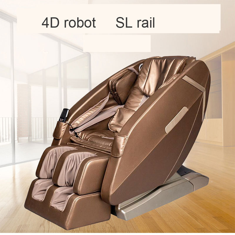 4D Robot SL Rail Luxury Intelligent Massage Chair Home Sharing Automatic Multi-Function Massager 200W