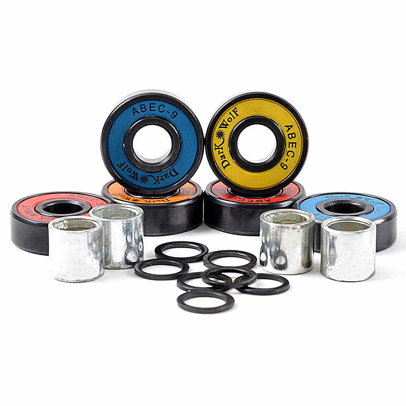 8pcs/set <font><b>ABEC</b></font>-<font><b>9</b></font> <font><b>608</b></font> <font><b>2RS</b></font> Skateboard Bearings Longboard Colorful Instal DIY Bearing Set image