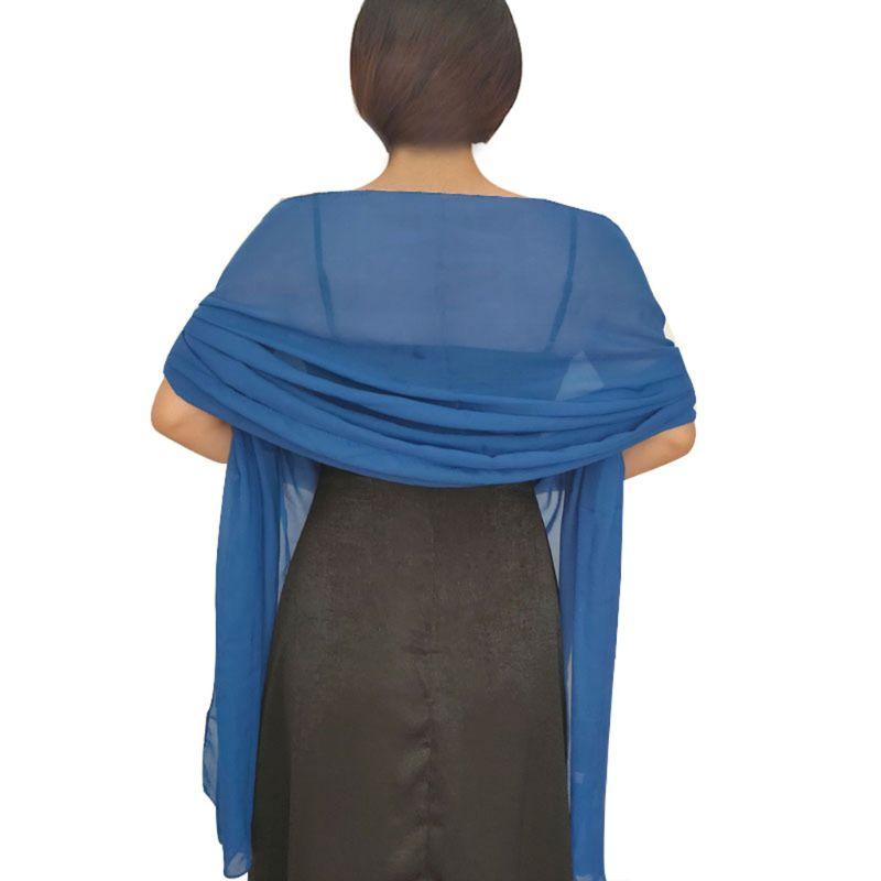 Long Sheer Chiffon Plain Shawl Wrap Scarf Hijab  Brown Colors